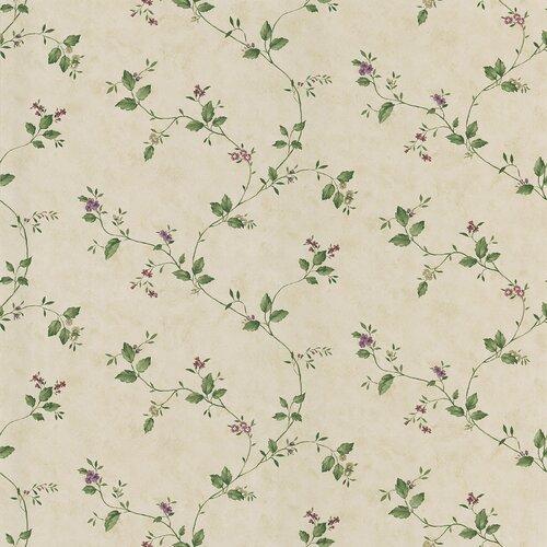 Brewster Home Fashions Dollhouse Veronica Floral Trail Wallpaper