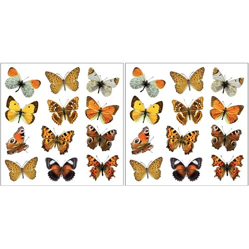 Brewster Home Fashions Home Décor Butterfly Wall Decal