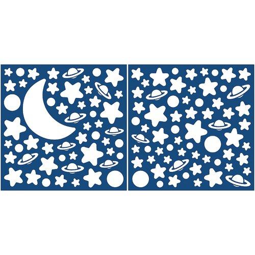 Home Decor Glow in the Dark Moon & Stars Wall Decal