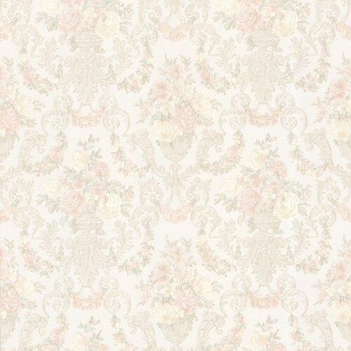 Brewster Home Fashions Juliette Phebe Floral Urn Damask Embossed Wallpaper