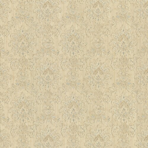 Brewster Home Fashions Juliette Romeo Damask Embossed Distressed Wallpaper