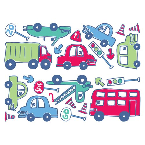Brewster Home Fashions Fun4Walls Stikarounds Beep Beep Wall Decal