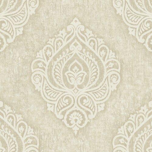 Brewster Home Fashions Pompei Theodor Damask Medallion Wallpaper