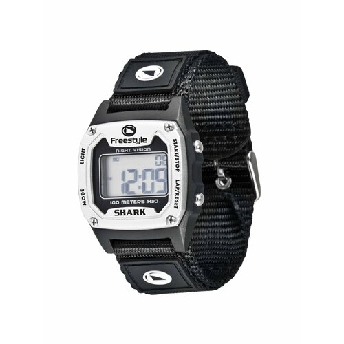 Shark Classic Full Watch in Nylon Silver / Black