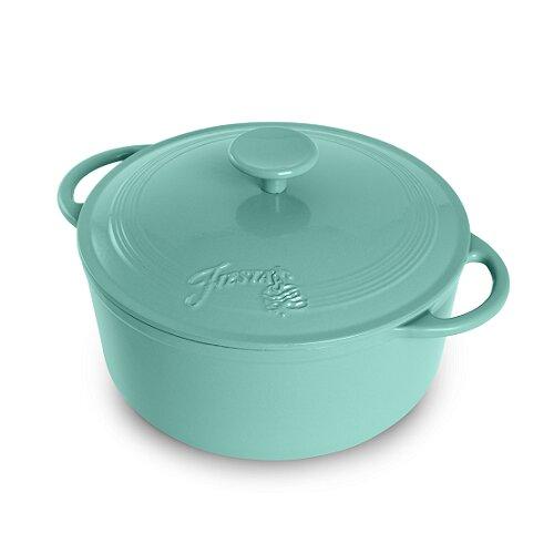 Fiesta ® 5.3 Qt. Cast Iron Round Dutch Oven