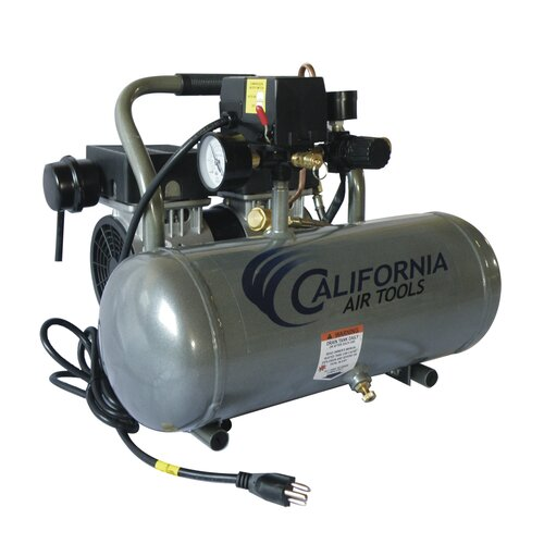 California Air Tools 1.6 Gallon Ultra Quiet  and Oil-Free 1/2 HP Aluminum Tank  Air Compressor