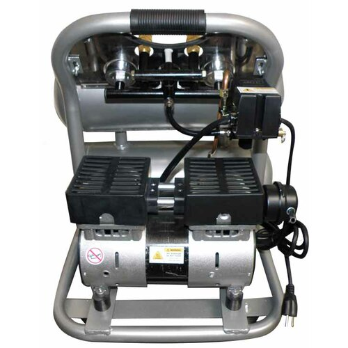 California Air Tools 4.6 Gallon Ultra Quiet and Oil-Free 1.0 HP Aluminum Twin Tank Air Compressor