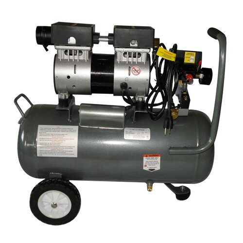 California Air Tools 6.3 Gallon Ultra Quiet and Oil-Free 1.0 HP Steel Tank Air Compressor
