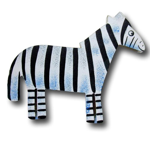 "One World 4.5"" Zebra Knob"