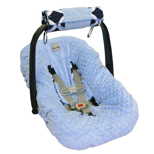 Social Circle Blue Wrap and Roll Infant Carrier Arm Pad and Tummy Time Mat