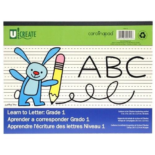 "Carolina Pad & Paper 12"" x 9"" Grade 1 Learn To Letter Pad"
