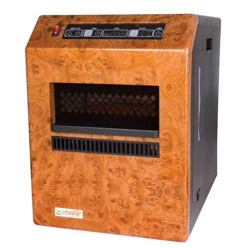 Eco-Heater 1,500 Watt Infrared Cabinet Space Heater with Remote Control