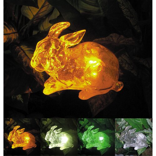 Solar Rabbit with Color Change Lighting
