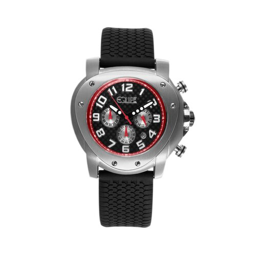 Grille Men's Watch with Silver Case and Black Dial