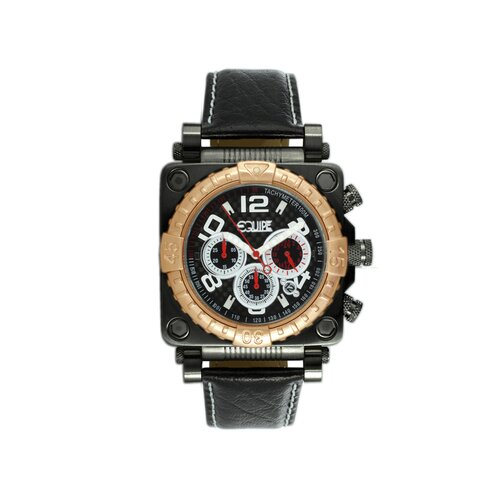 Gasket Men's Watch with Black Dial and Rose Gold Bezel