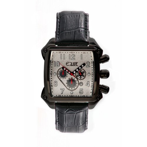 Equipe Bumper Men's Watch with Black Case and White Dial
