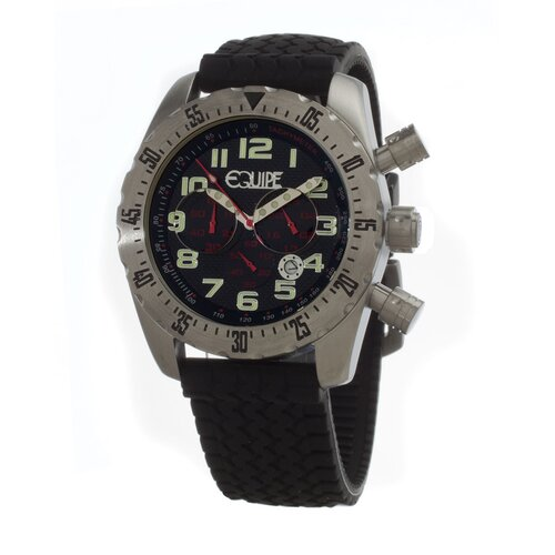 Headlight Men's Watch with Black Band and Dial