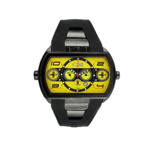 Equipe Dash XXL Men's Watch with Black Case and Yellow Dial