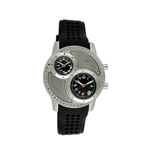 Equipe Octane Men's Watch with Silver Case and Black Dial