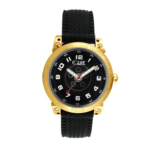 Hub Men's Watch with Gold Case and Black Dial