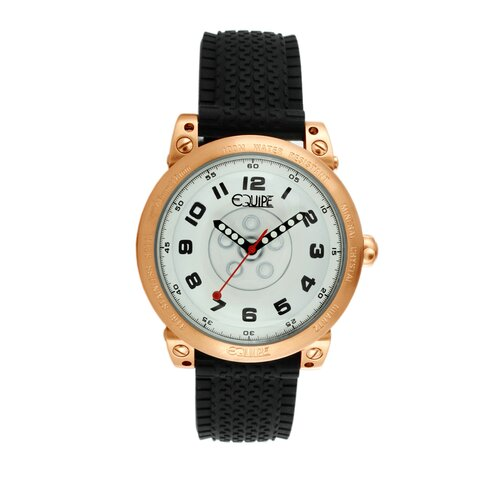 Hub Men's Watch with Rose Gold Case and White Dial