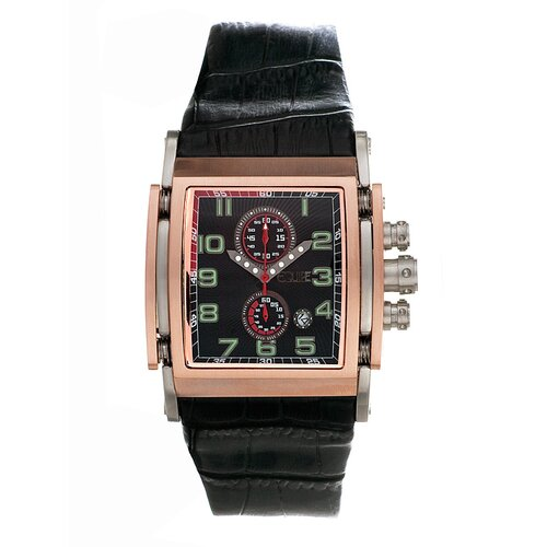 Spring Men's Watch with Rose Gold Case and Black Dial