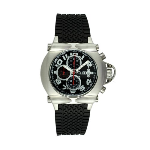 Equipe Rollbar Men's Watch with Silver Case and Black Dial