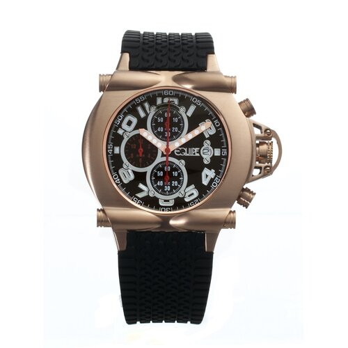 Rollbar Men's Watch with Rose Gold Case and Black Dial