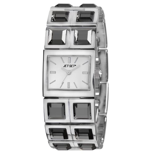 Beverly Hills Ladies Watch with Silver Crystal Band