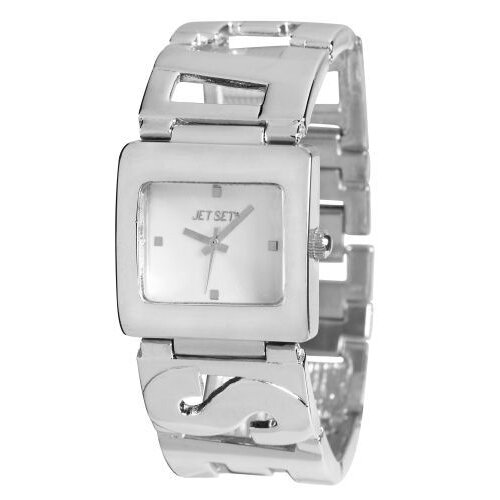 Jet Set Beverly Hills Ladies Watch with Silver Logo Band