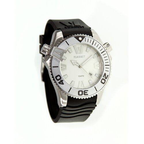 H2O Gent Men's Watch with Black Rubber Band and White Dial