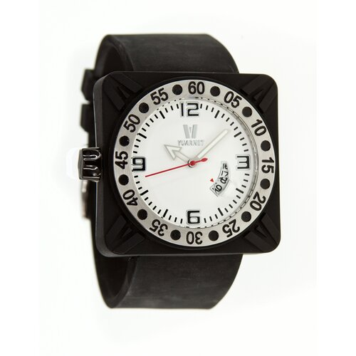 Deepest Gent Men's Watch in Black with White Dial
