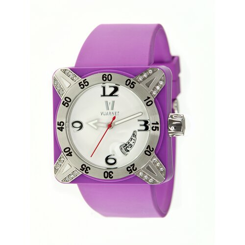 Deepest Lady Ladies Watch in Purple with Silver Bezel