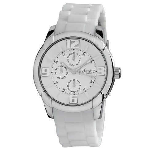 Axcent Night and Day Men's Watch with White Band