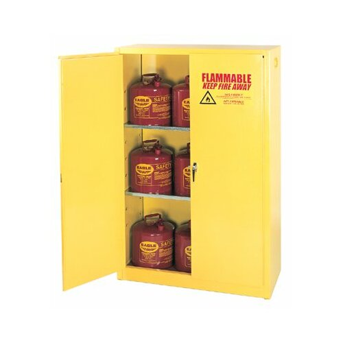 "Eagle 65"" H x 43"" W x 34"" D Flammable Liquid 90 Gallon Safety Storage Cabinet"