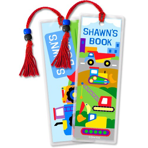 Olive Kids Under Construction Personalized Bookmark