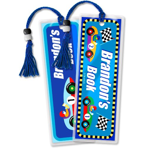 Olive Kids Vroom Personalized Bookmark