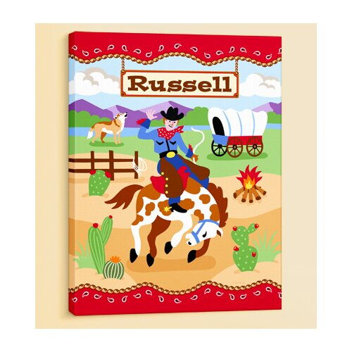 Olive Kids Ride 'em Personalized Canvas Art