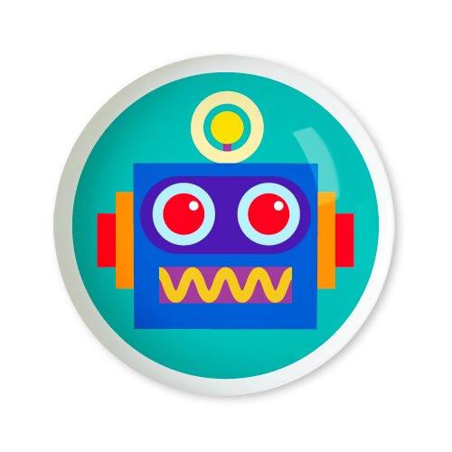"Olive Kids Robots 1.5"" Round Knob"