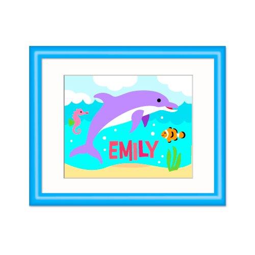 Olive Kids Ocean Dolphin Personalized Framed Art