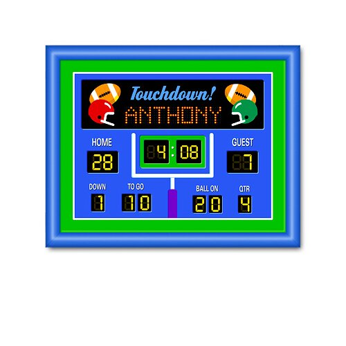Olive Kids Game On Football Large Personalized Framed Art