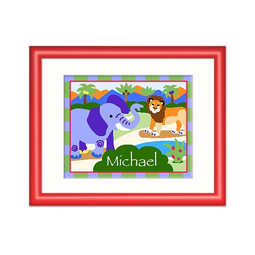 Wild Animals Personalized Framed Art