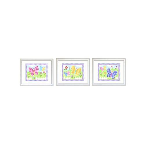 Olive Kids 3 Piece Butterfly Garden Framed Art Set