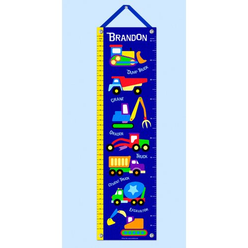 Olive Kids Under Construction Personalized Growth Chart