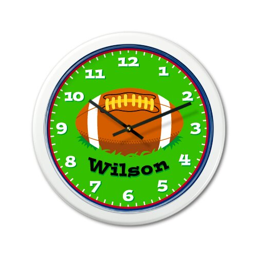 "Olive Kids Football 12"" Personalized Wall Clock"