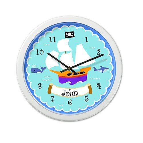 "Olive Kids Pirates 12"" Personalized Wall Clock"