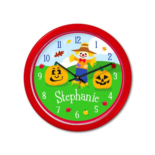 """Olive Kids Fall 12"""" Personalized Wall Clock"""