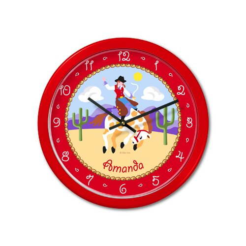"Olive Kids Ride 'Em Girls 12"" Personalized Wall Clock"