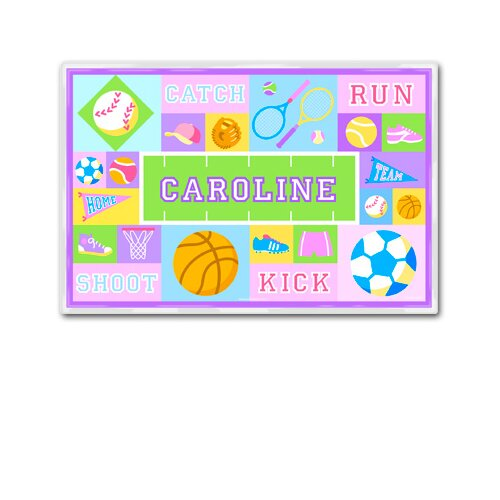 Olive Kids Game On Girls Personalized Placemat