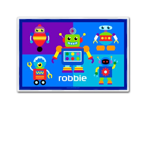 Olive Kids Little Robots Personalized Placemat